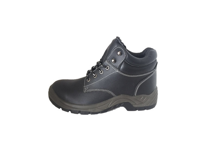 Work Environment  PU Sole Safety Shoes , Steel Toe Security Guard Shoes Anti Static