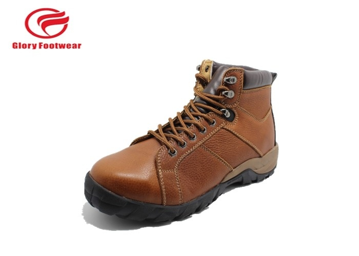 Waterproof Woodland  Leather Safety Trainers Men With Meatal Toe Cap Slip Resistant