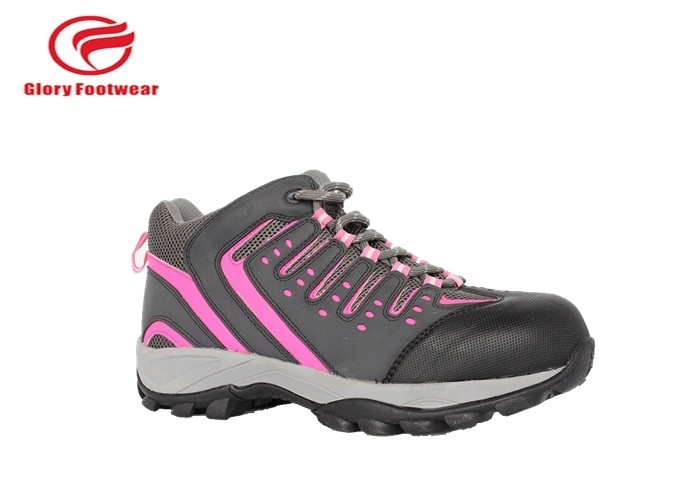 Action Leather Steel Toe Work Shoes , Black Steel Toe Tennis Shoes With EVA  / Rubber