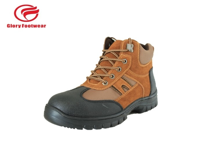 Cool Brown Low Top Waterproof Steel Toe Tennis Shoes Beathable Mesh Lining