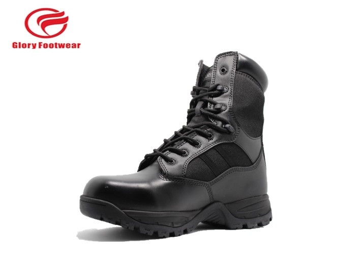 Cordura Upper Leather Military Boots Steel Shank , Mens Trendy Combat Boots  Lace Up