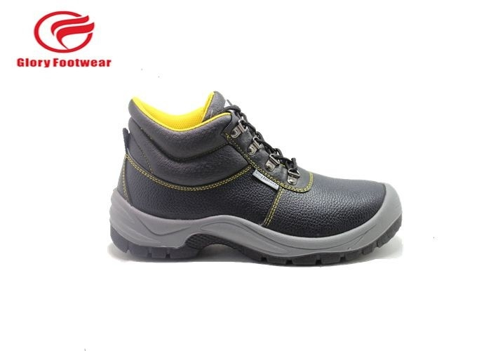 Embossed Action Leather Upper Low Top Steel Toe Shoes With Pu Outsole S1P Standard