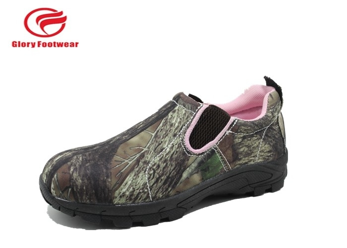 Olive Green Army Summer Low Top Waterproof Hunting Boots Rubber Outsole Camouflage