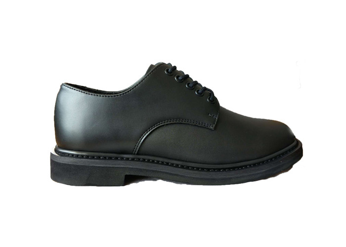 Lightweight Split Leather Police Leather Shoes , Shiny  Lace Up Army Officer Shoes